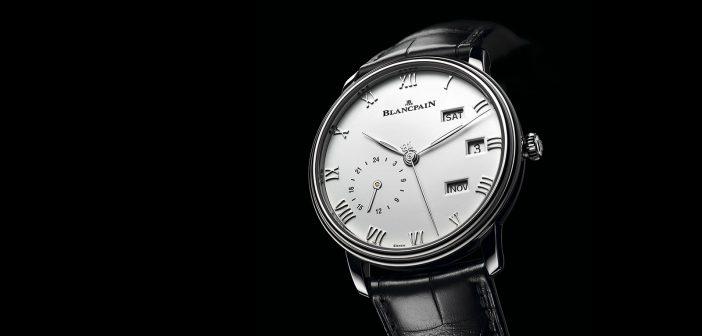 Blancpain Villeret Quantième Annuel GMT, en acero