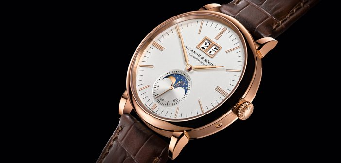 A. Lange & Söhne Saxonia Moon Phase. Exquisita genialidad.