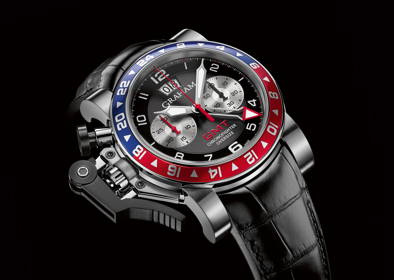 ca2624144b9e Graham Chronofighter Oversize GMT Blue and Red ⋆ Watch Test