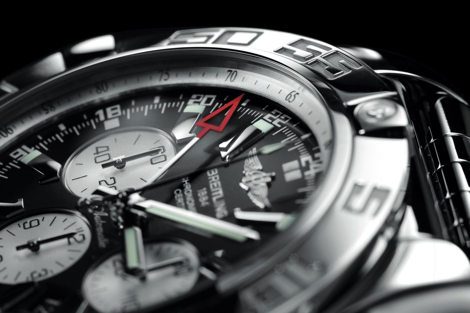 Breitling Chronomat GMT dial