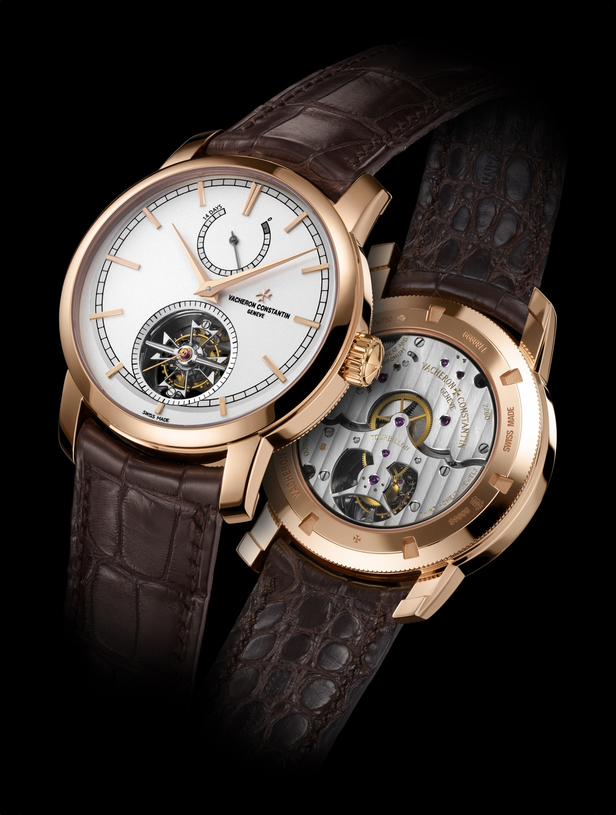 Vacheron Constantin Patrimony Traditionnelle Tourbillon 14 jours front back