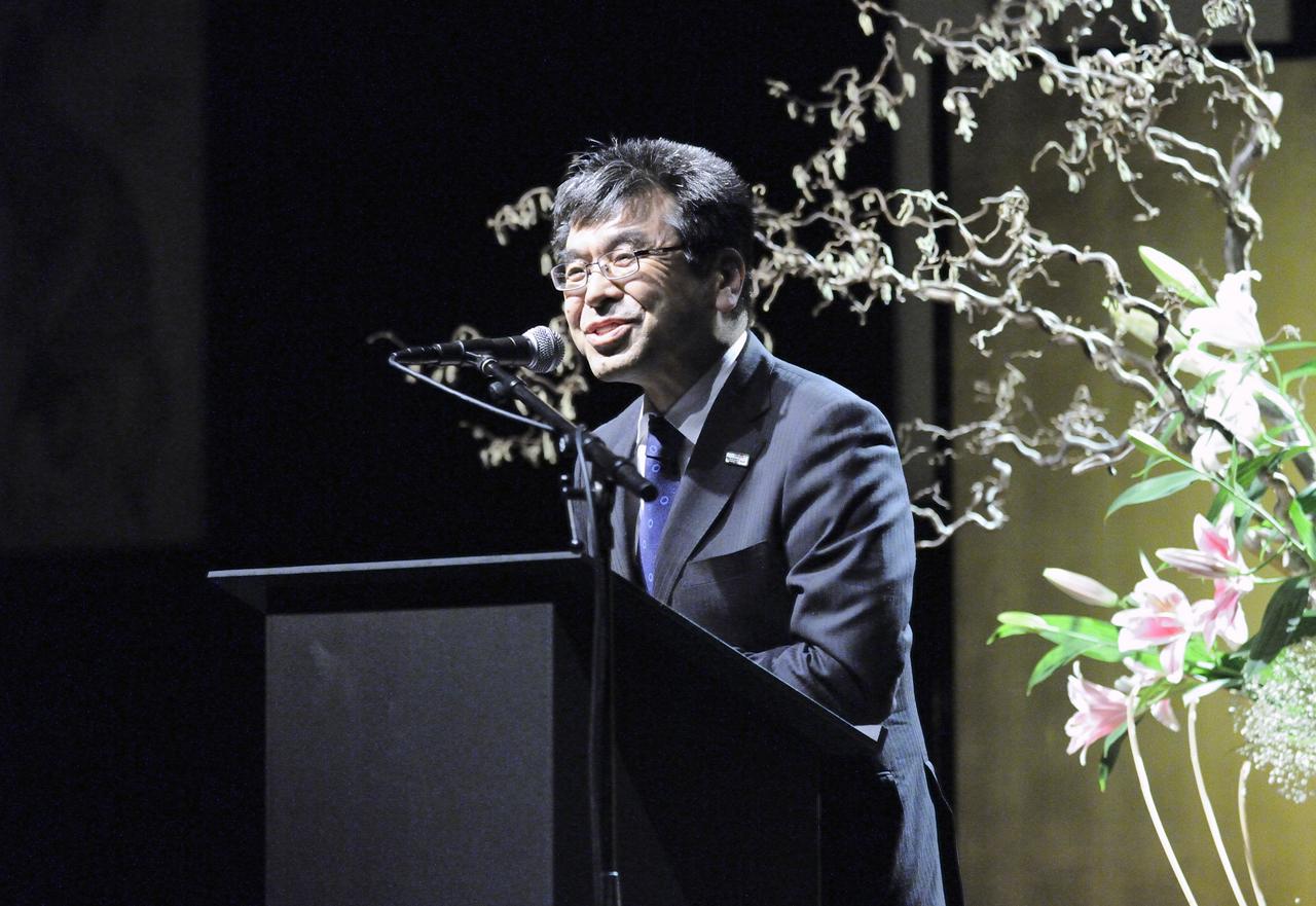 M. Yukihiro Nikaido durante la ceremonia del 6 de febrero en el MEN.