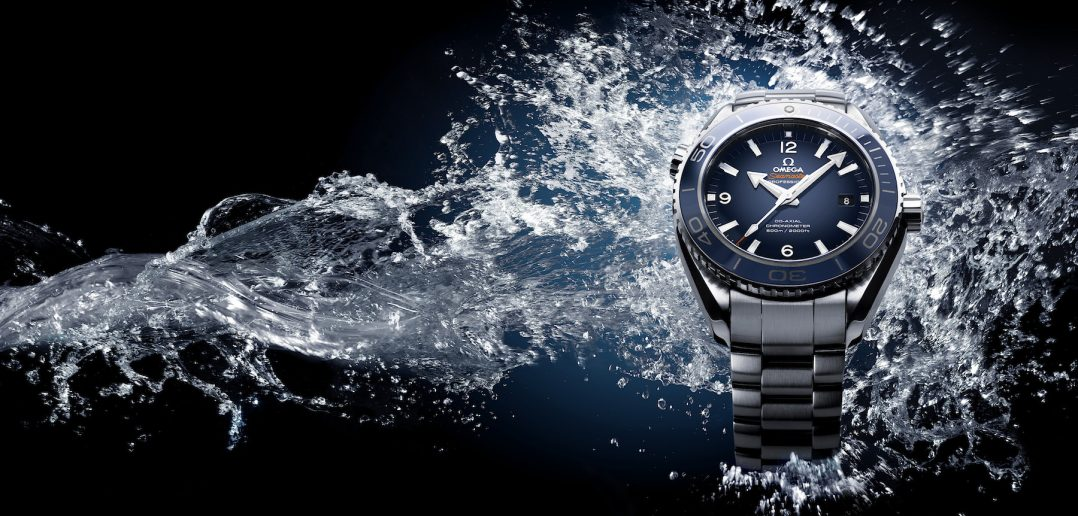 Omega Seamaster Planet Ocean splash