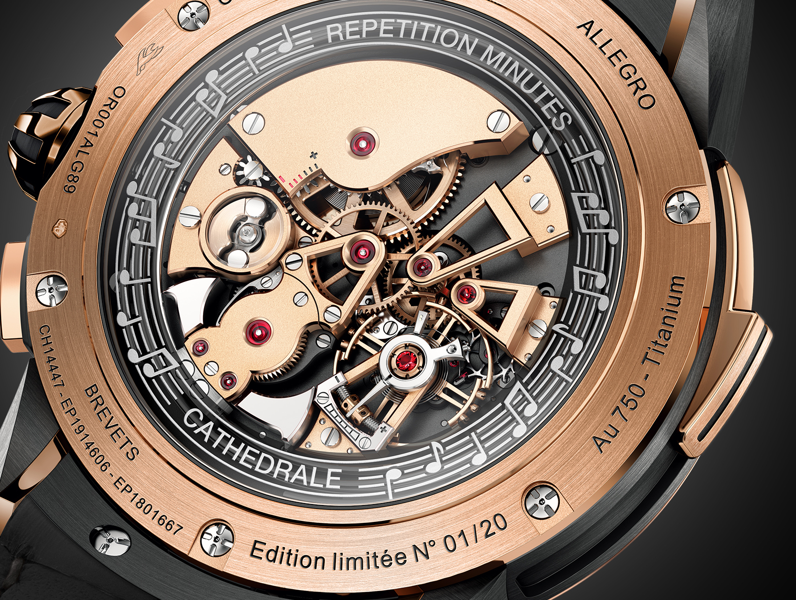 Allegro Christophe Claret back red gold