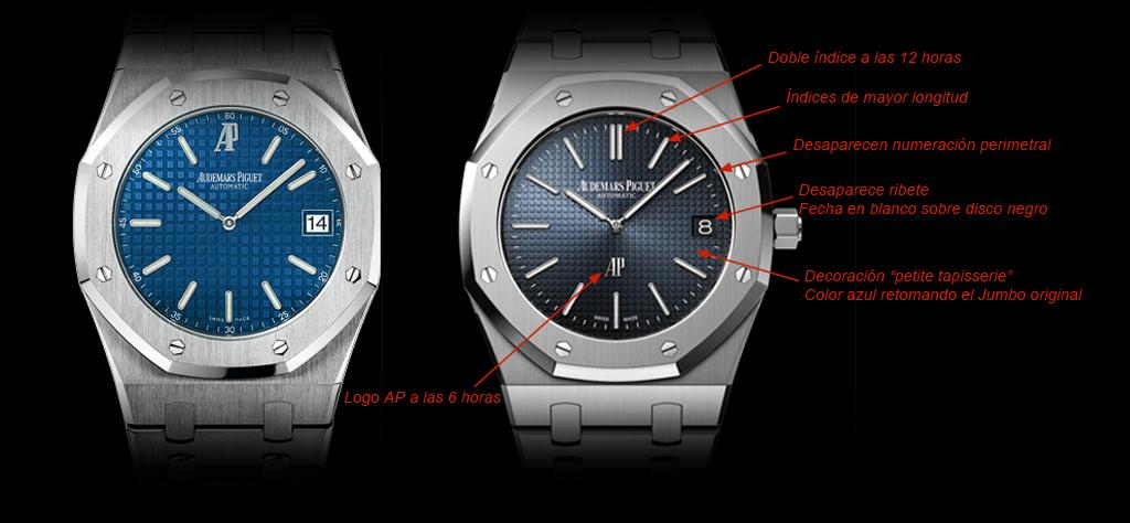 Dial del 15202ST anterior vs. 15202ST presentado en SIHH 2012