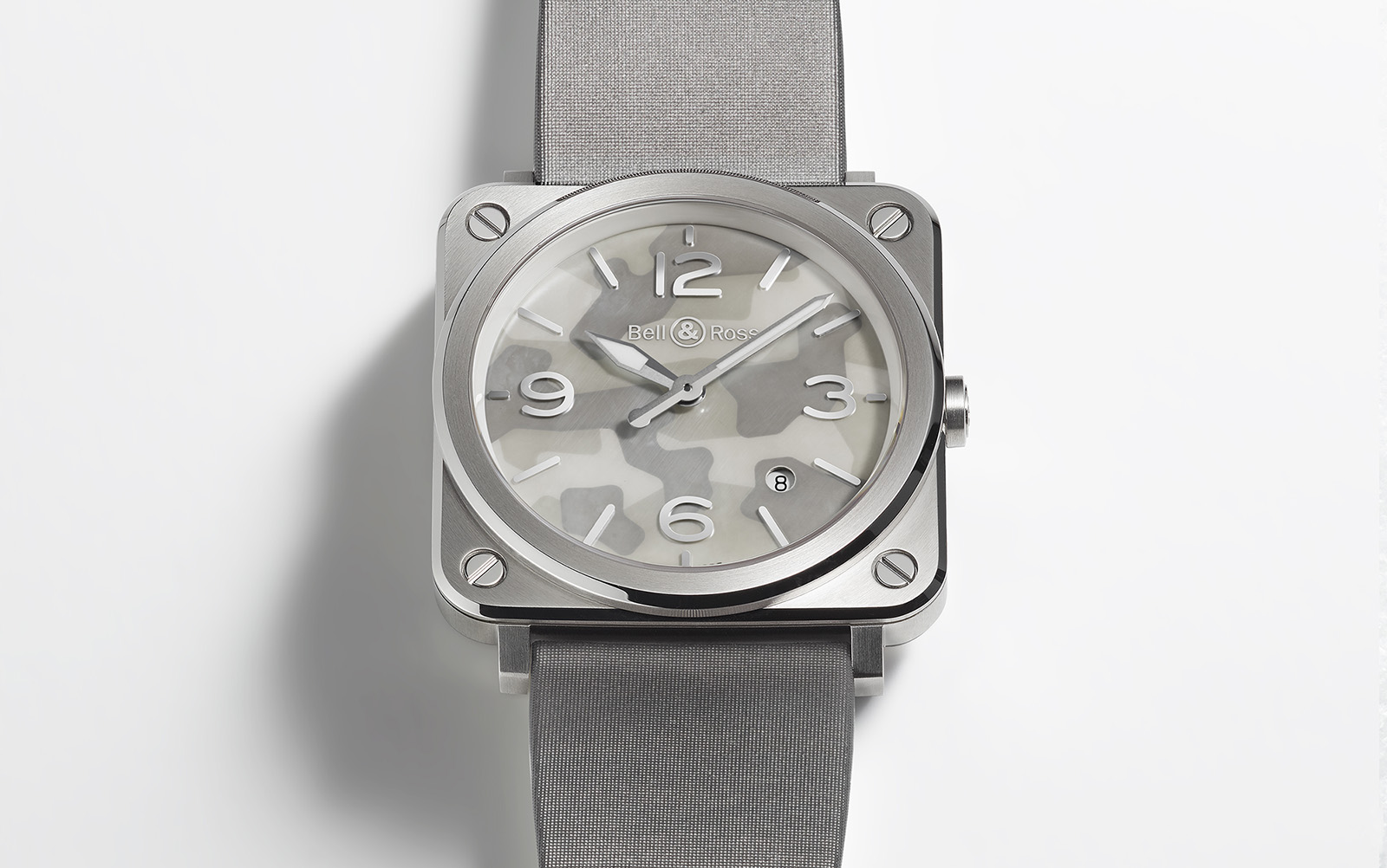 Bell & Ross BR S Grey Camouflage acero