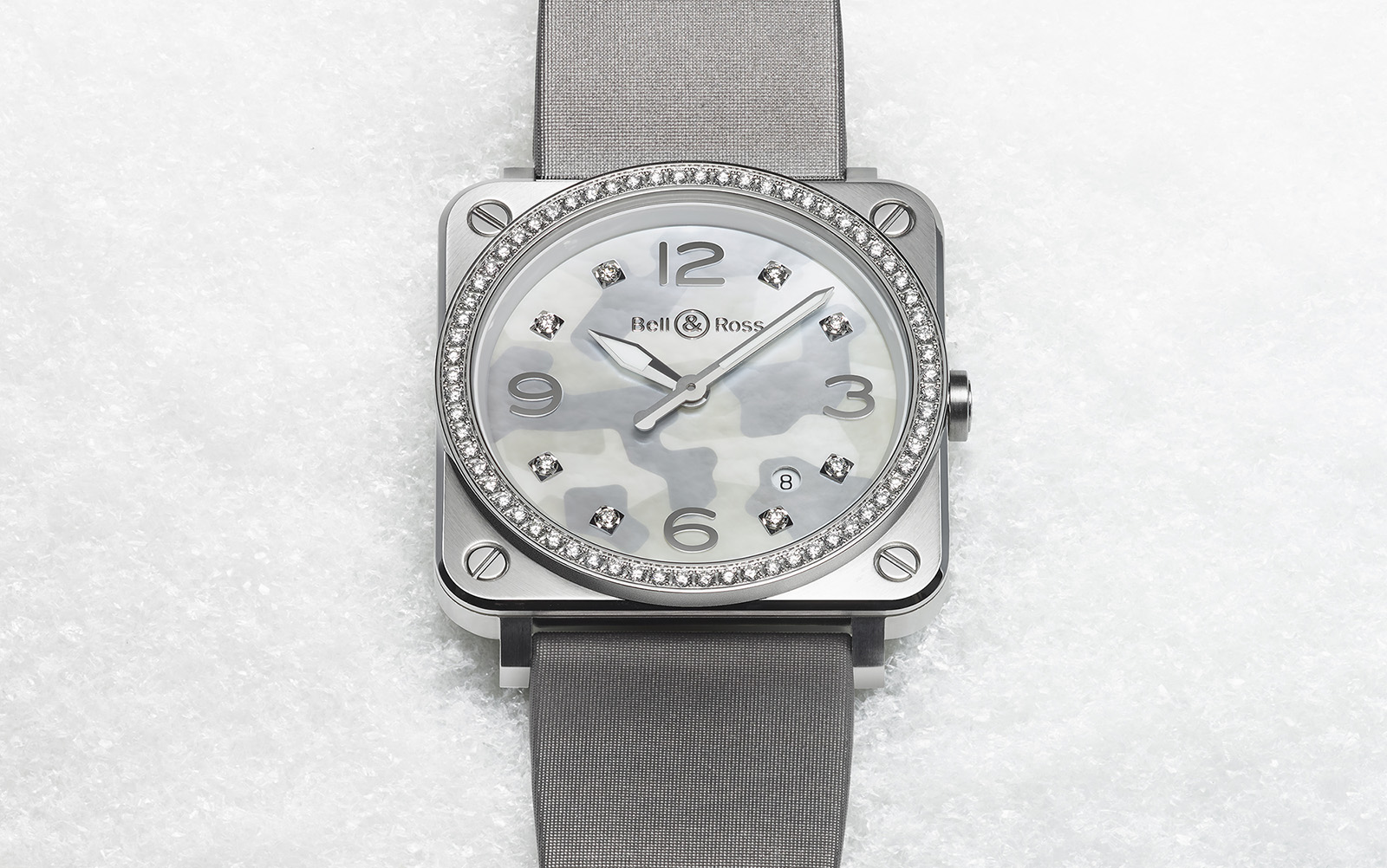 Bell & Ross BR S Grey Camouflage diamantes