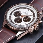 Speedmaster «First Omega in Space» en Sedna Gold.