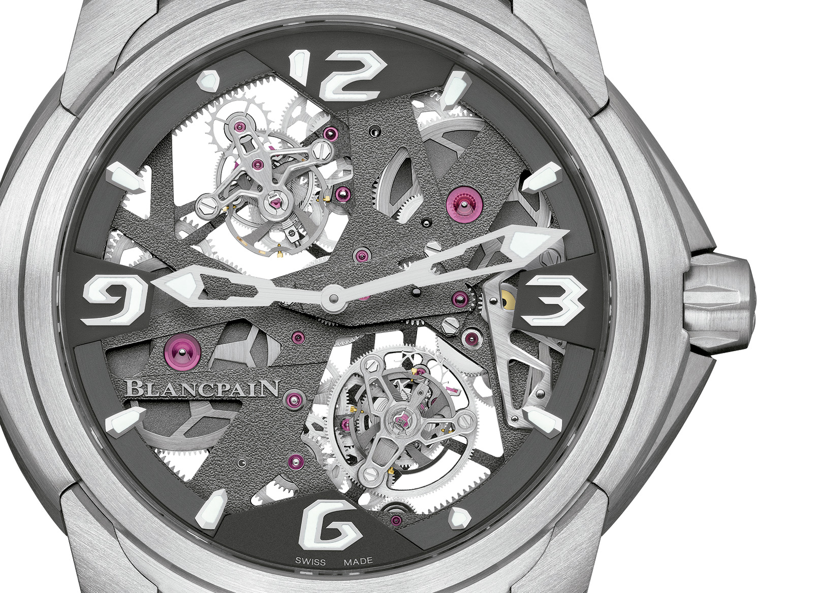 Blancpain L-Evoultion Tourbillon Carrousel crop esfera
