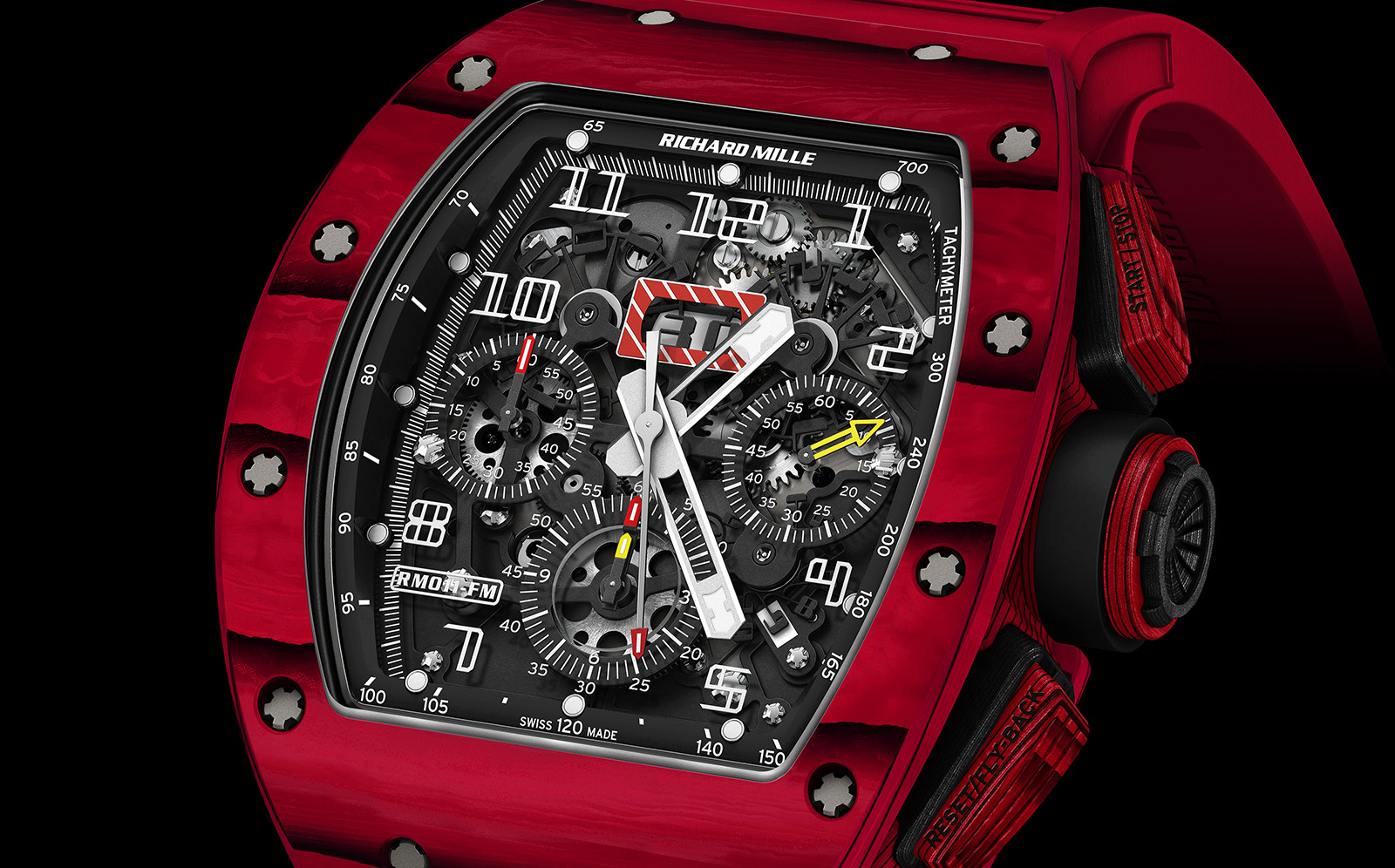 Richard Mille RM 011 Quartz TPT Red crop esfera