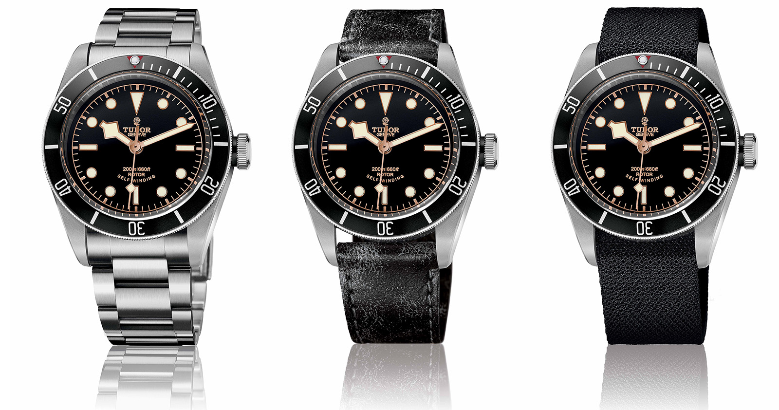 TUDOR HERITAGE BLACK BAY BLACK correas