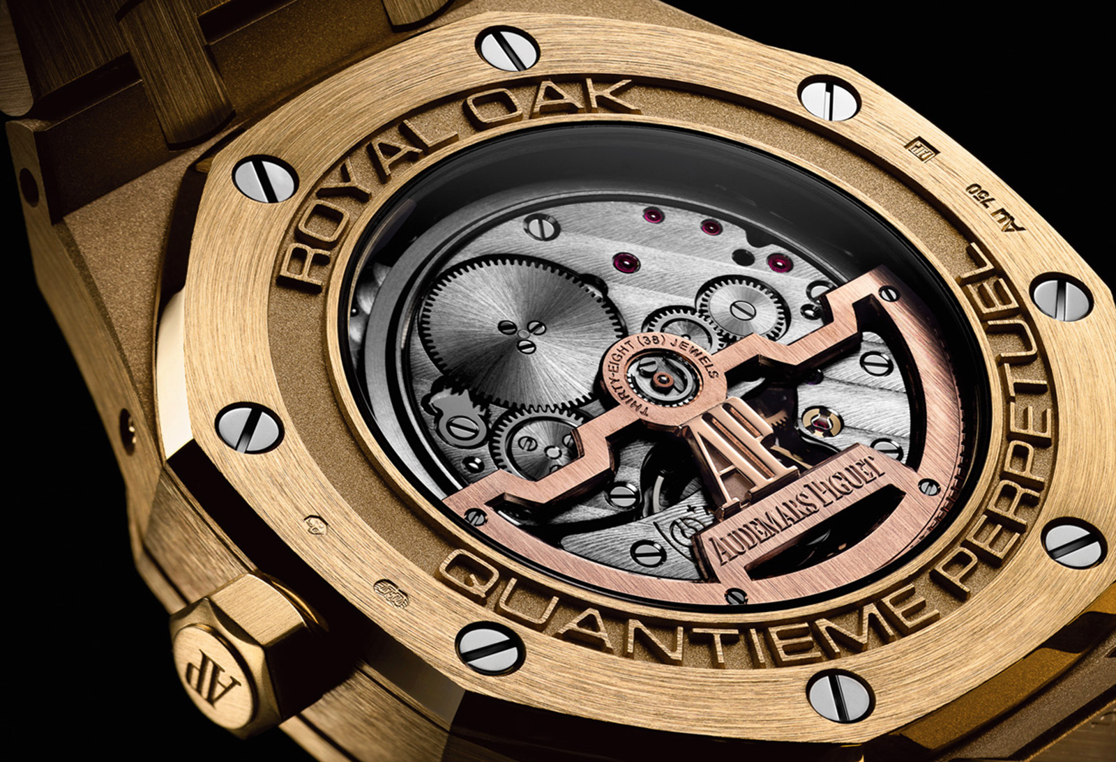Audemars Piguet Royal Oak Perpetual Calendar Yellow Gold trasera