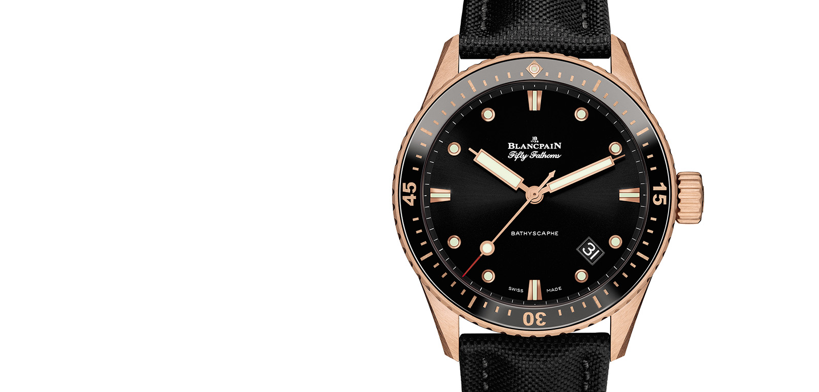 Blancpain Fifty Fathoms Bathyscaphe Sedna Gold portada