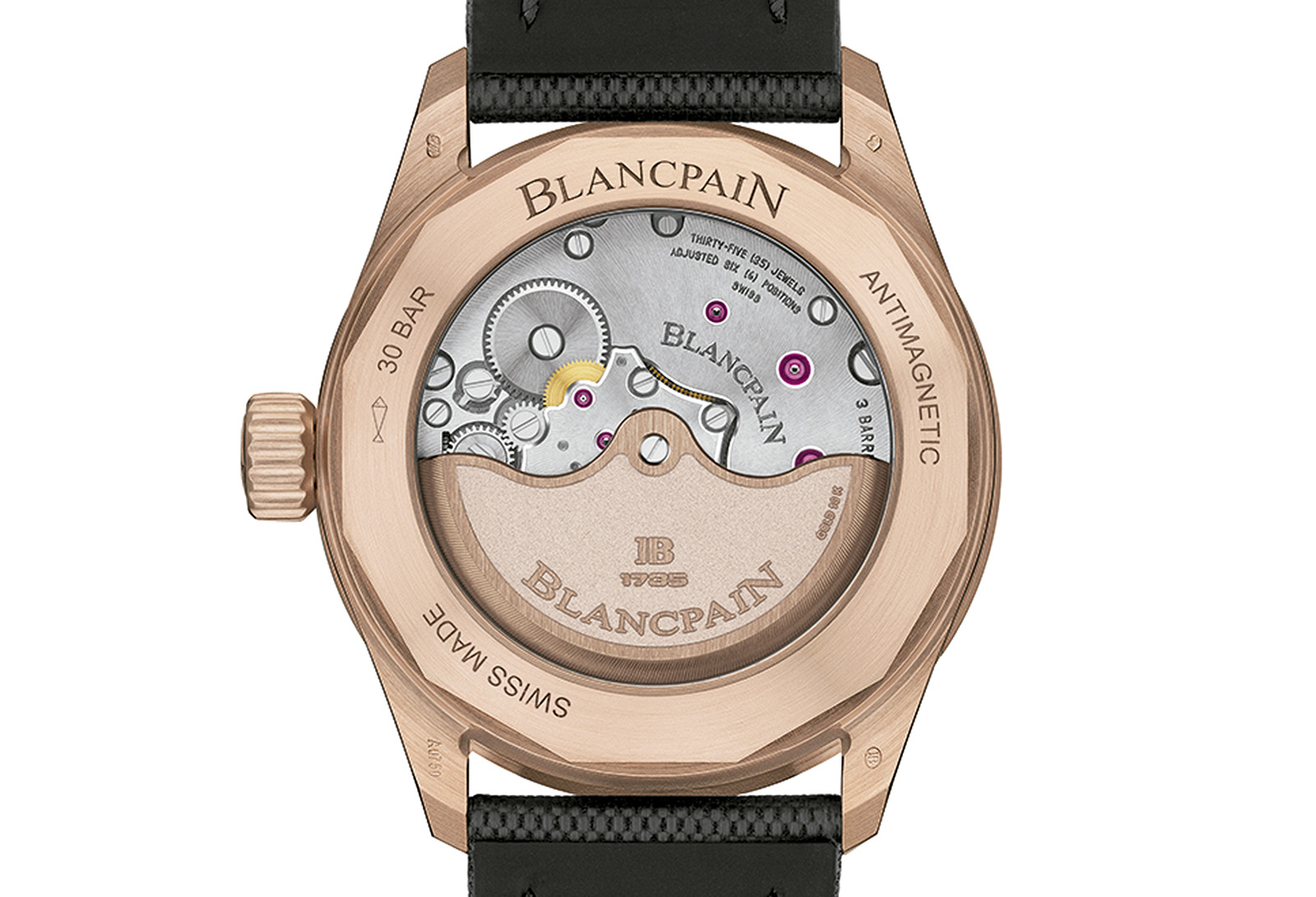 Blancpain Fifty Fathoms Bathyscaphe Sedna Gold trasera