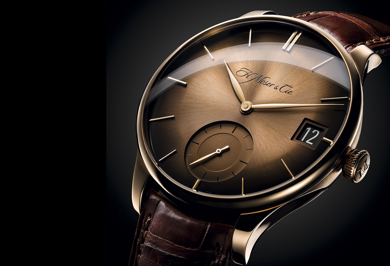 Moser Venturer Big Date Red Gold