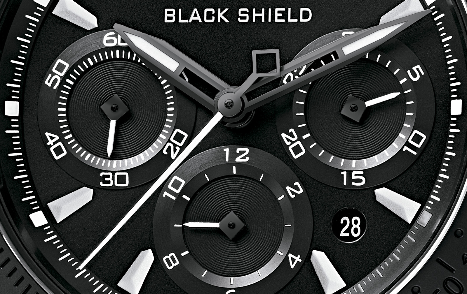 Tudor Fastrider Black Shield Chronograph crop esfera 2