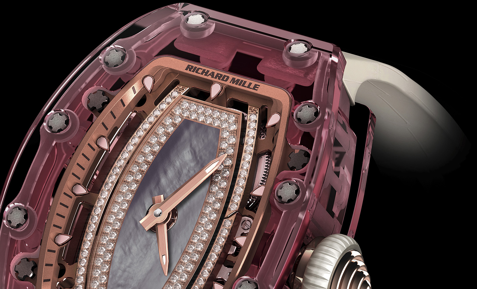 Richard Mille RM 07-02 Pink Lady Sapphire crop 1