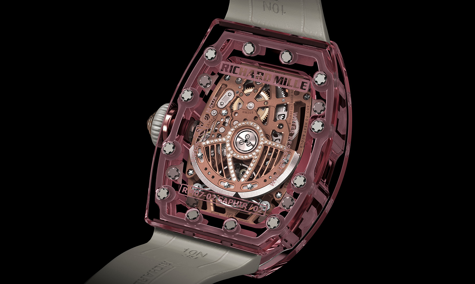 Richard Mille RM 07-02 Pink Lady Sapphire trasera