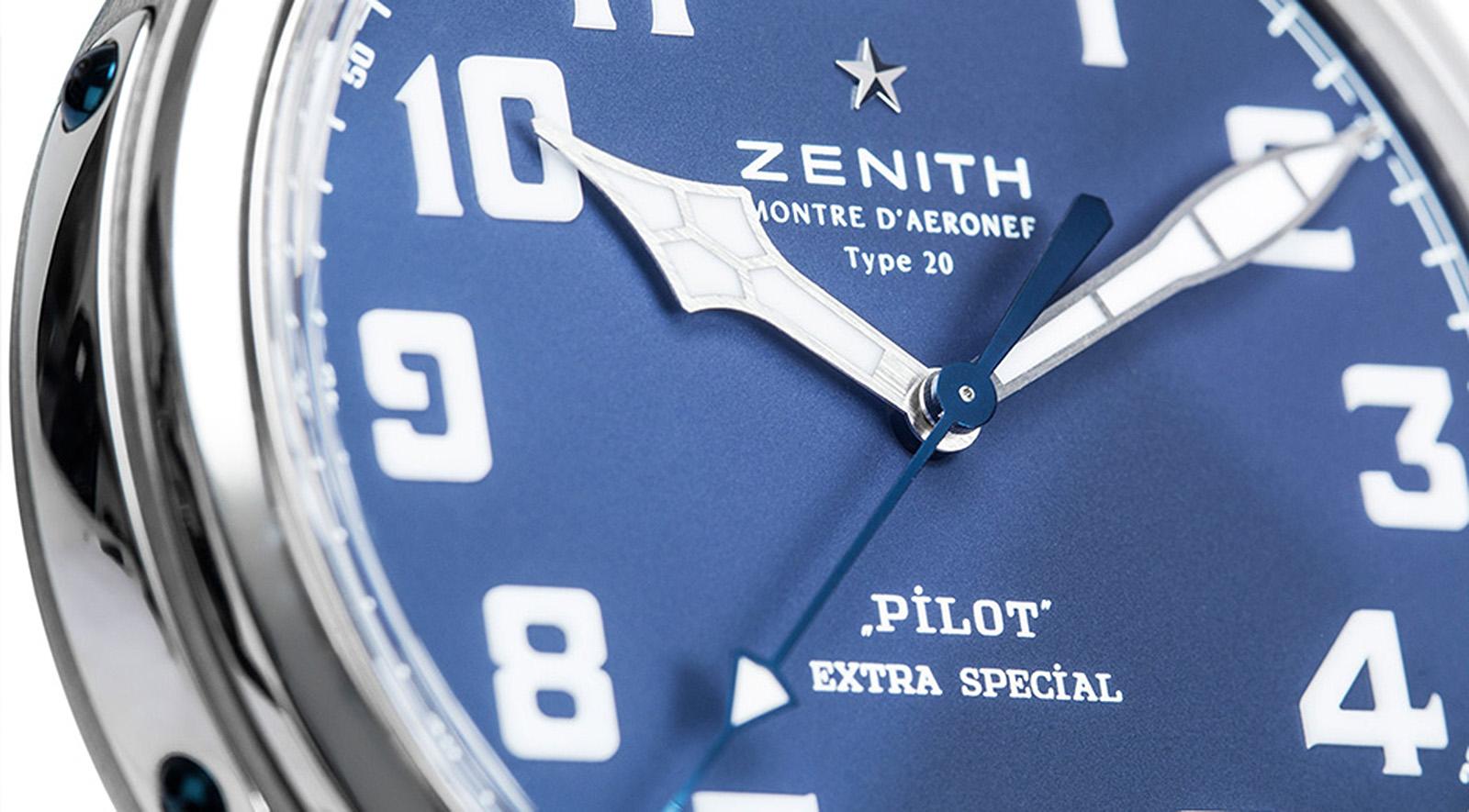 Zenith Pilot Type 20 Extra Special Blue crop esfera