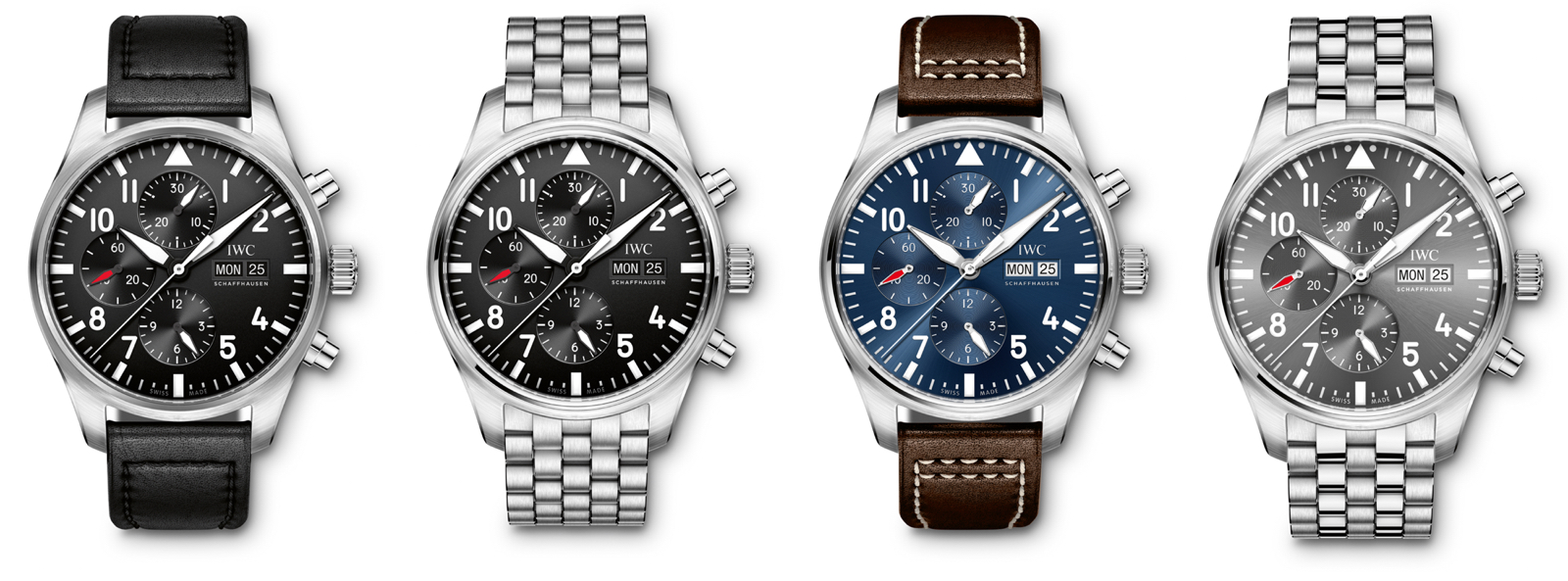 IWC 2016 Pilot Watch Chronograph Faces
