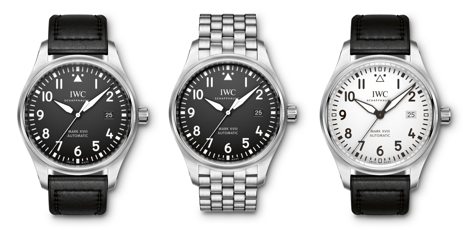 IWC 2016 Pilot Watch Mark XVIII Faces
