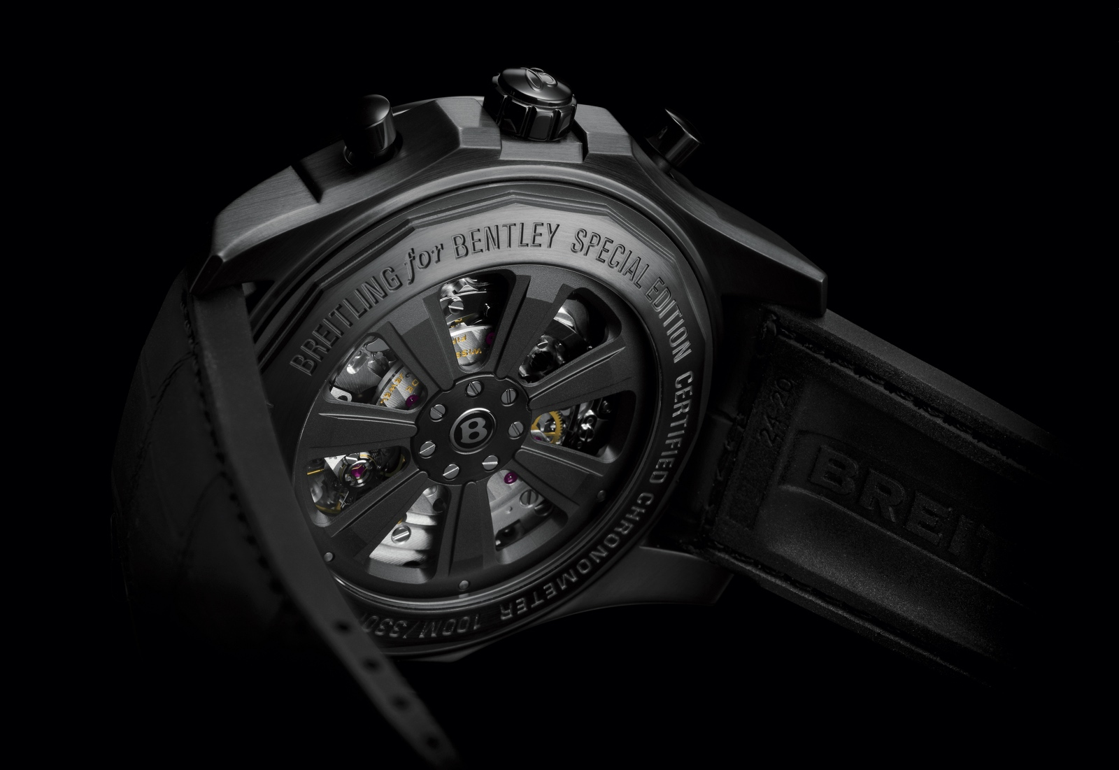 Breitling Bentley B05 Unitime Midnight Carbon - back