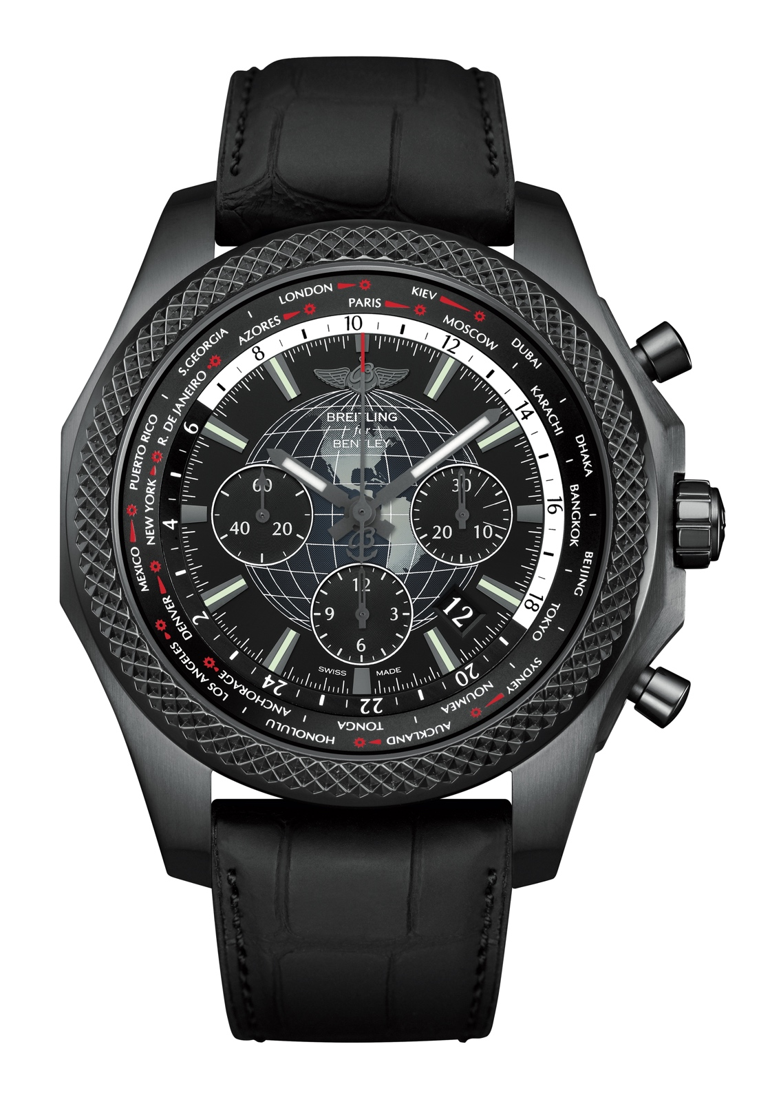 Breitling Bentley B05 Unitime Midnight Carbon - front
