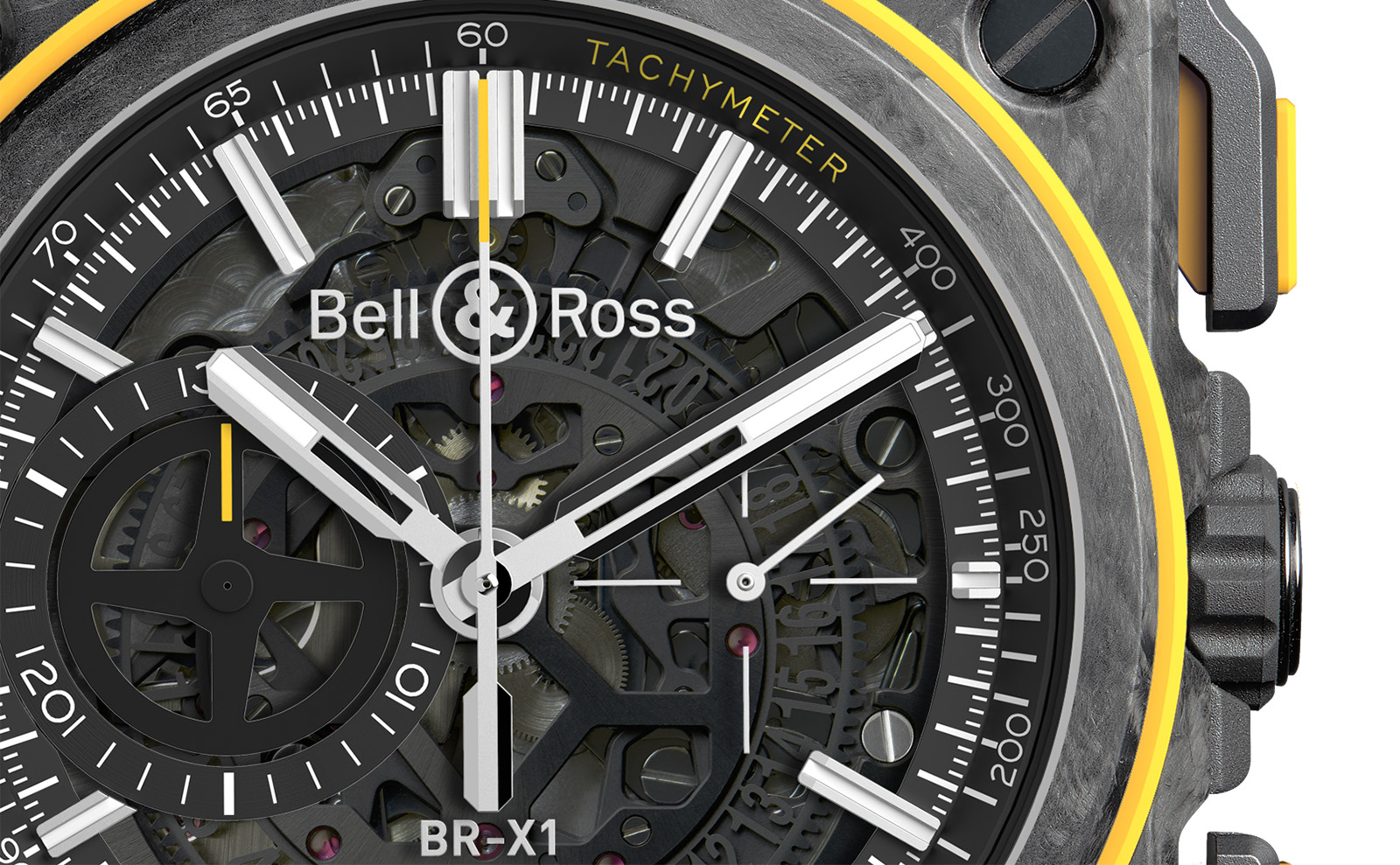Bell & Ross BR-X1-RS16 Chronograph crop esfera