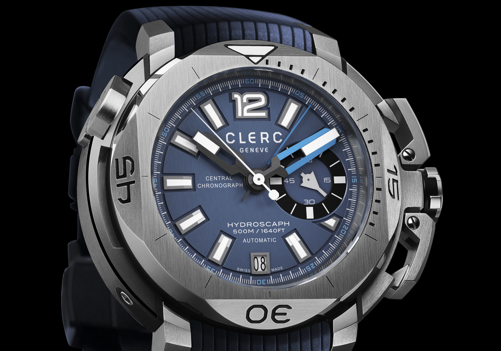 Clerc Hydroscaph Central Chronograph Small Second Dial