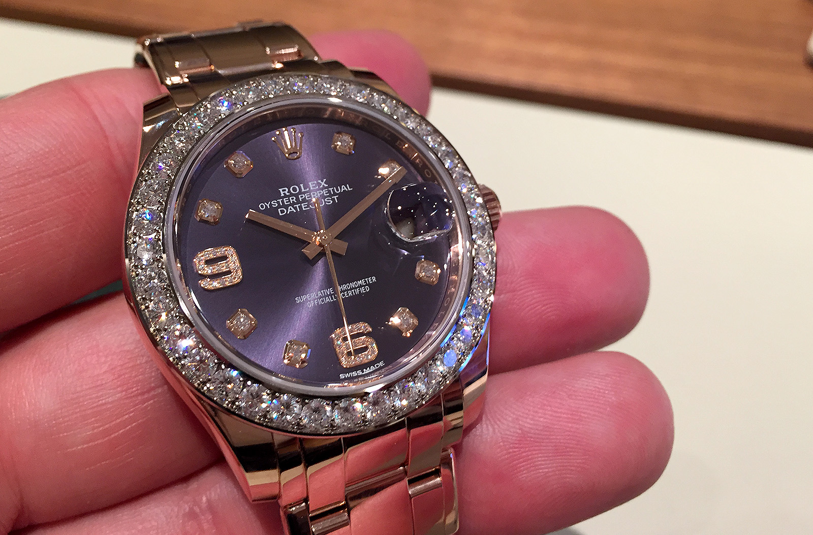 Rolex Oyster Perpetual Pearlmaster 39 Aubergine