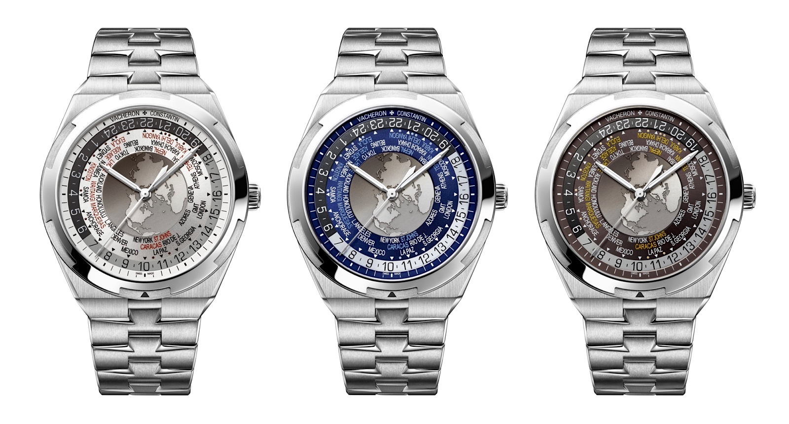 Vacheron Constantin Overseas World Time - trio