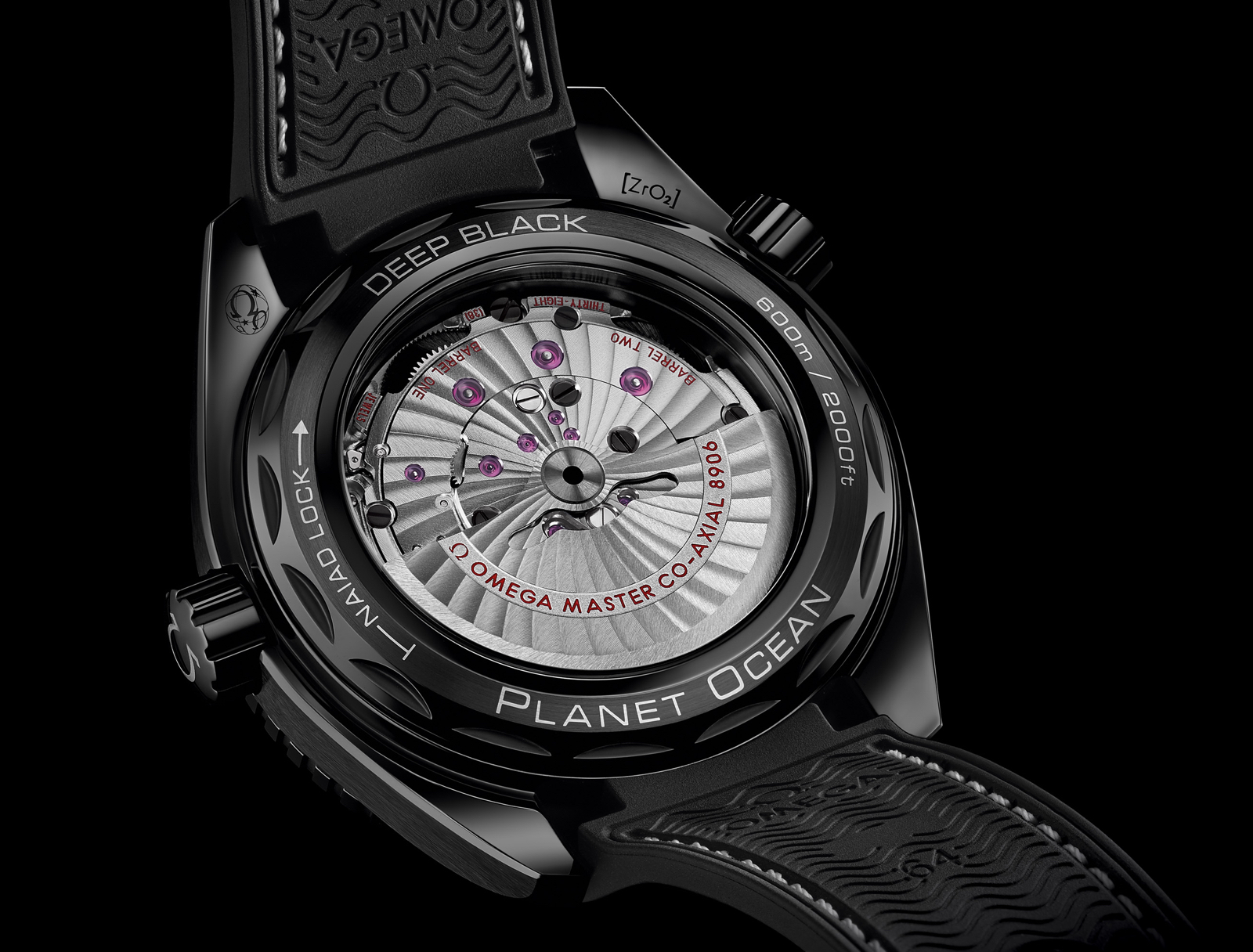 Omega Planet Ocean Deep Black Backcase