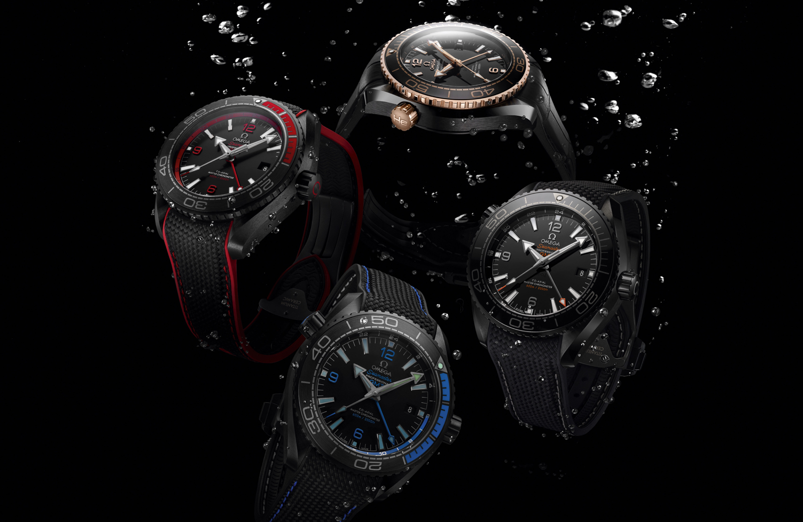 Omega Planet Ocean Deep Black Conjunto