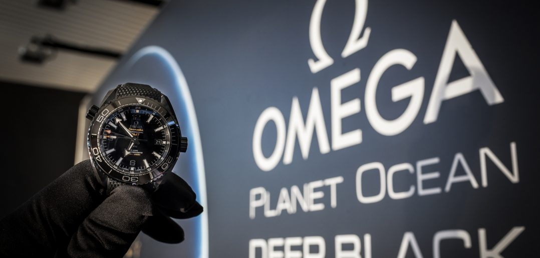 Omega Planet Ocean Deep Black Header