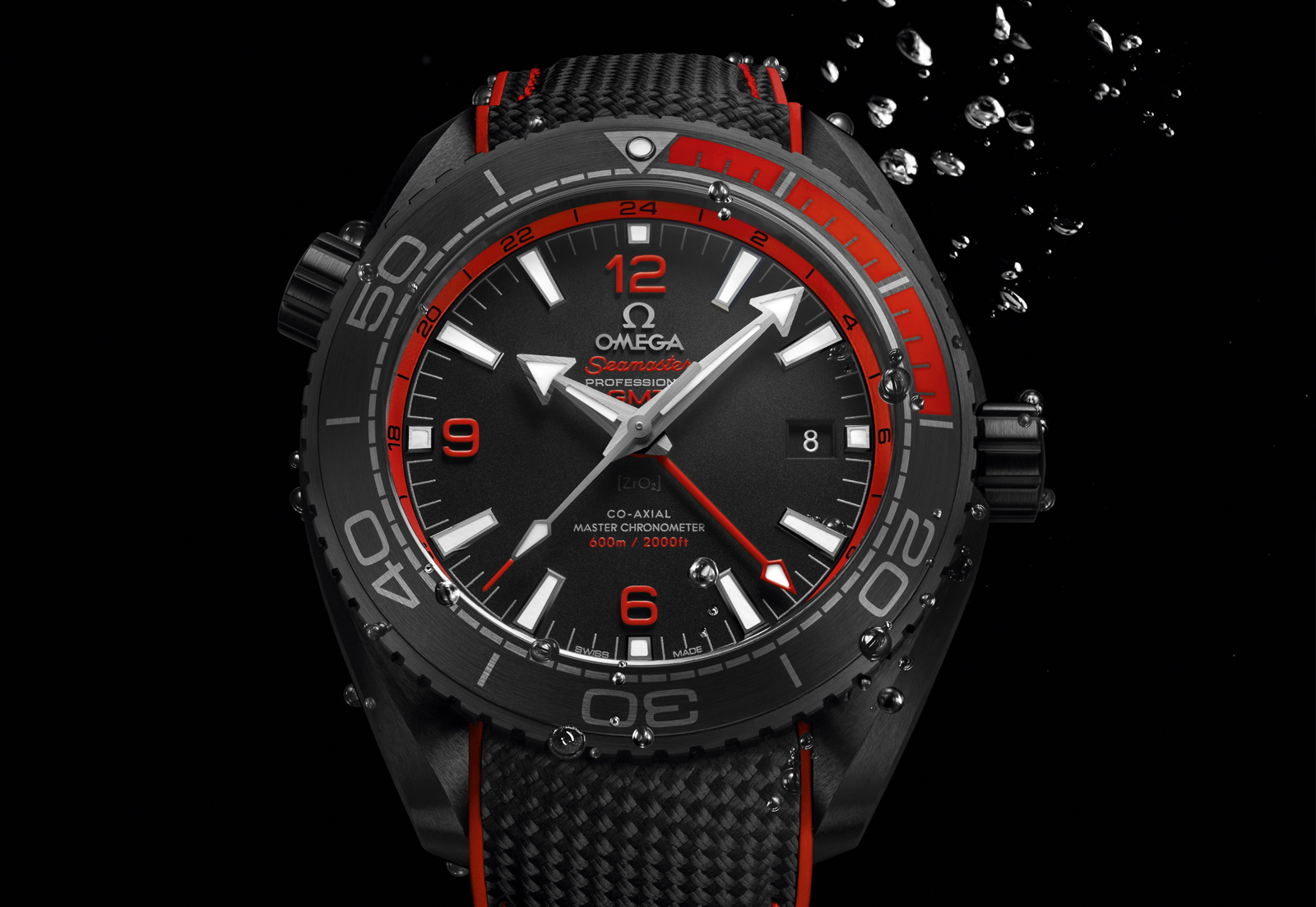 Omega Planet Ocean Deep Black Red