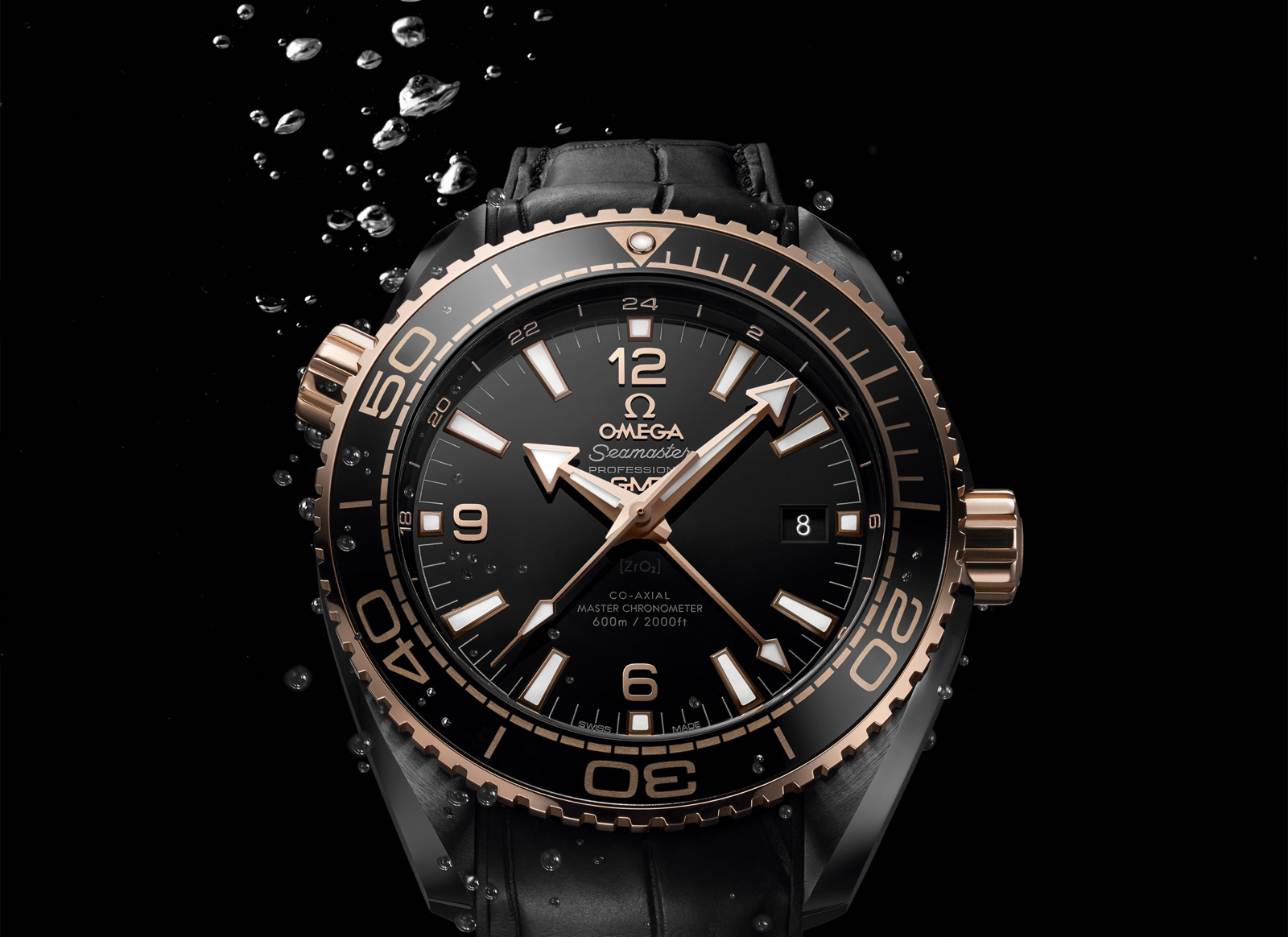 Omega Planet Ocean Deep Black Sedna Gold
