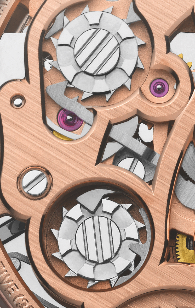 Parmigiani Fleurier Tonda Chronor Anniversaire Detail Column Wheel
