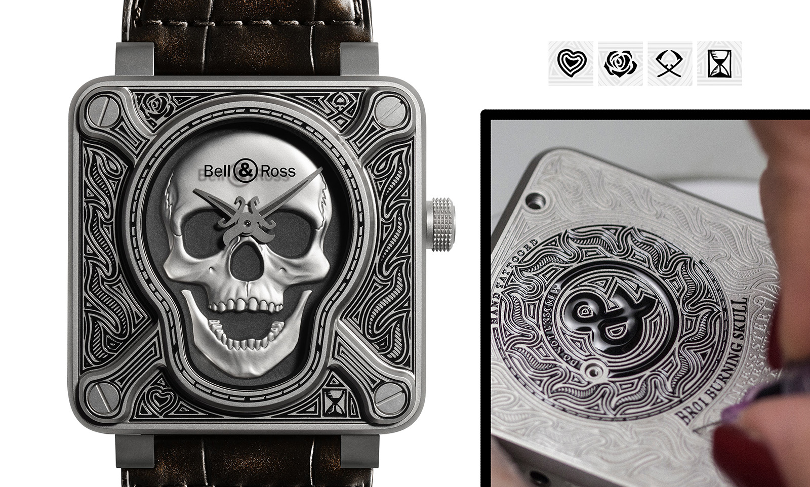 Bell & Ross BR01 Burning Skull - anverso