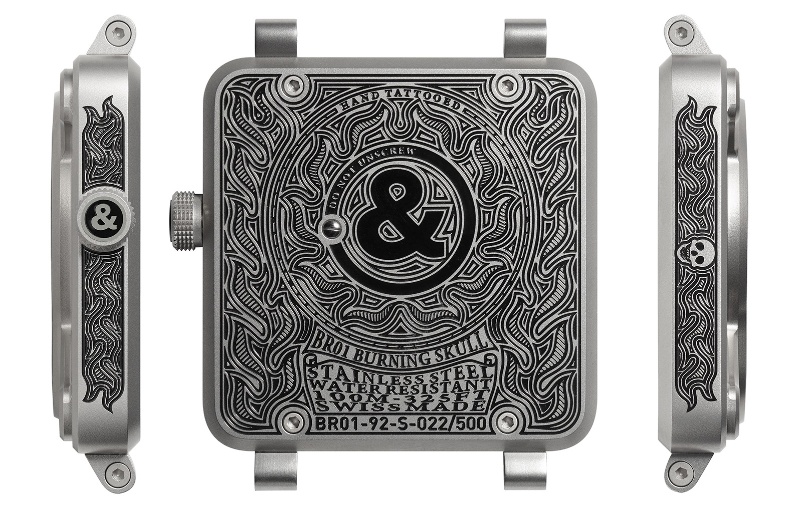 Bell & Ross BR01 Burning Skull - grabados