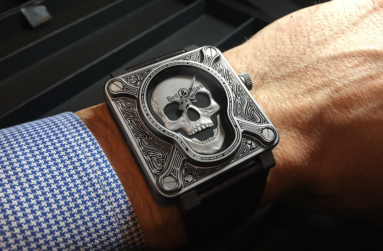 Bell & Ross BR01 Burning Skull - wrist