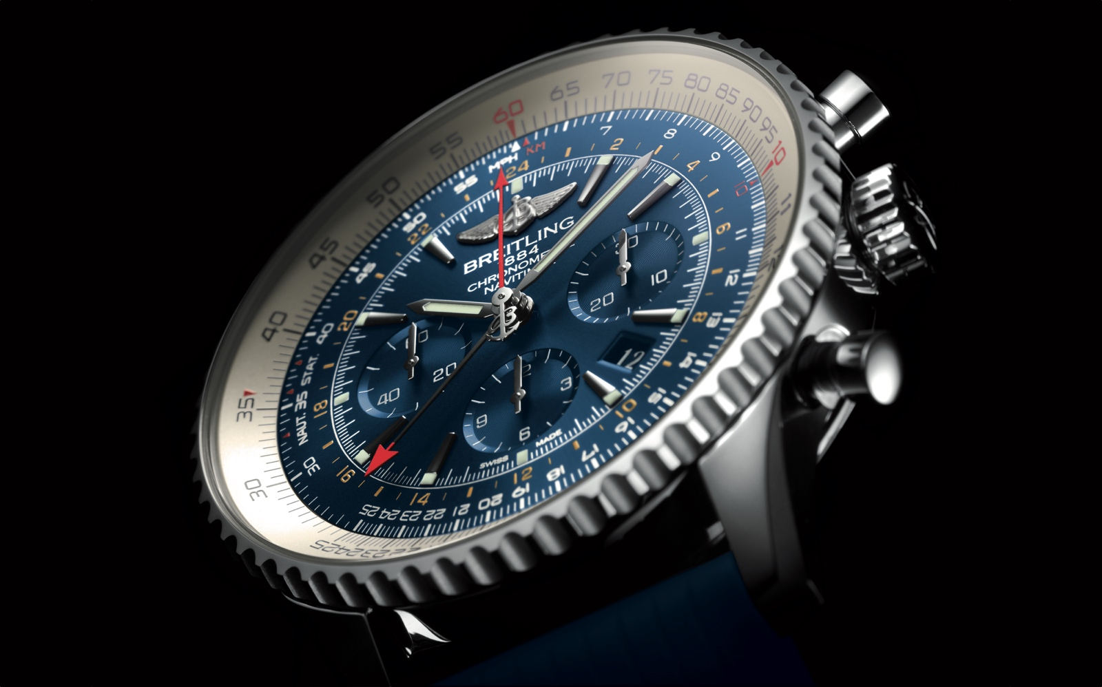 Navitimer GMT Aurora Blue - cover