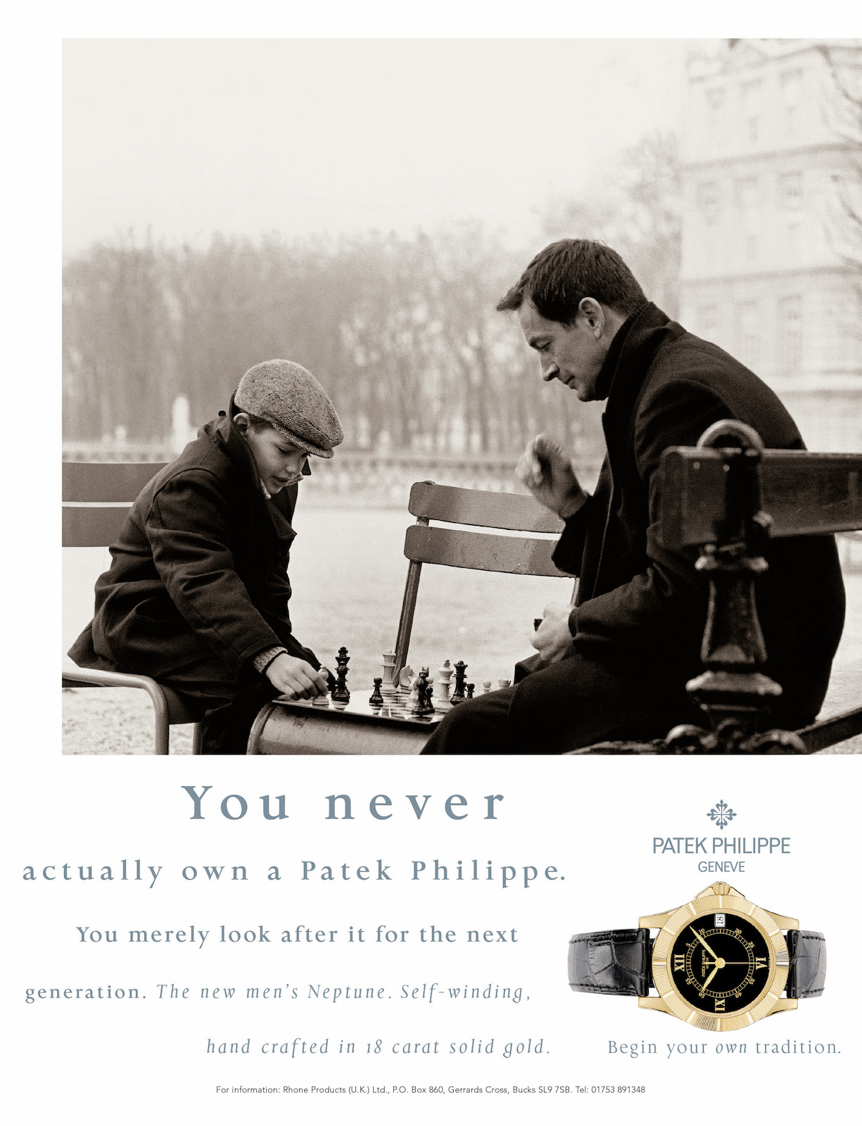 "1997 - Patek Philippe ""Generations"" - Photographer - Peter Lindbergh (Chess)"