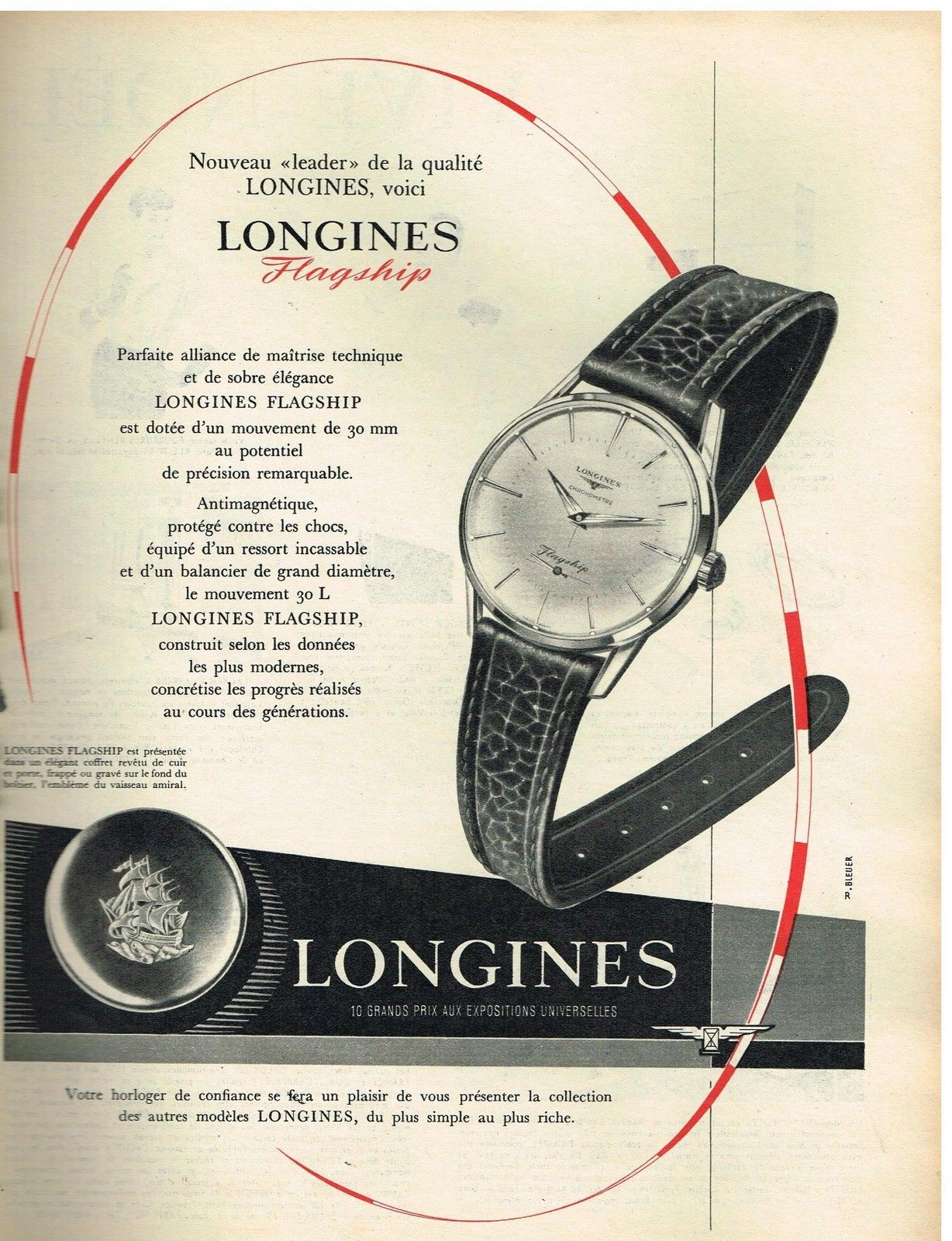 Publicidad Longines Flagship 1957