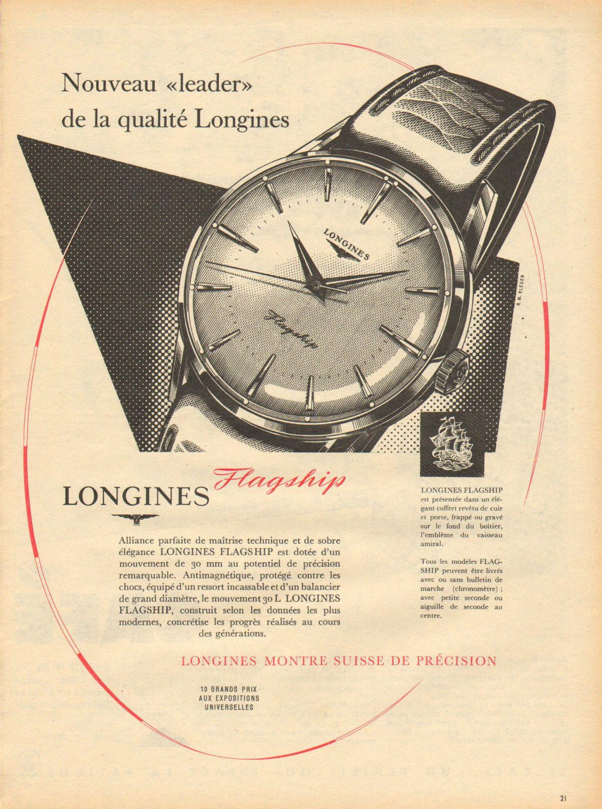 Publicidad Longines Flagship 1959
