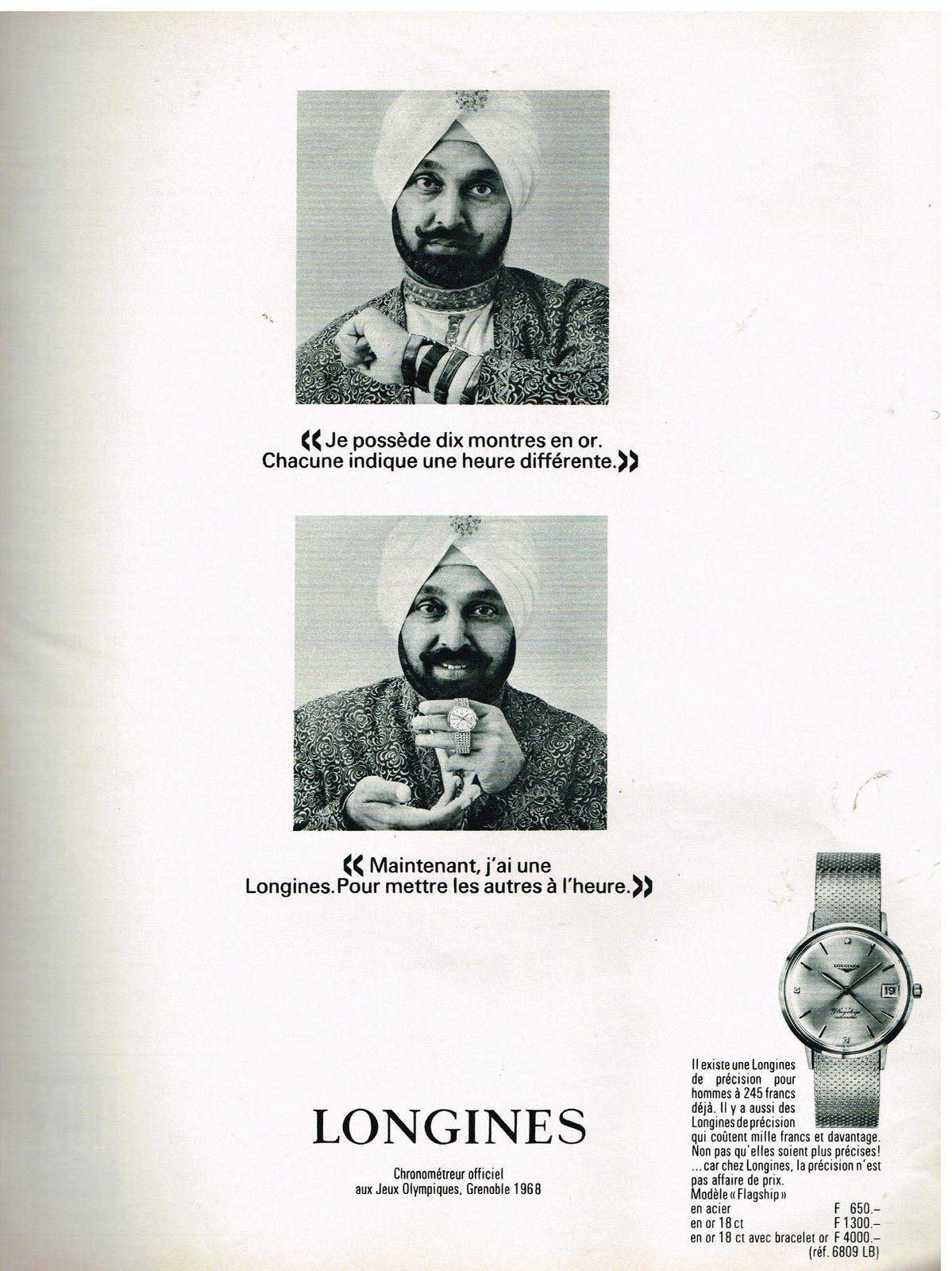 Publicidad Longines Flagship 1967