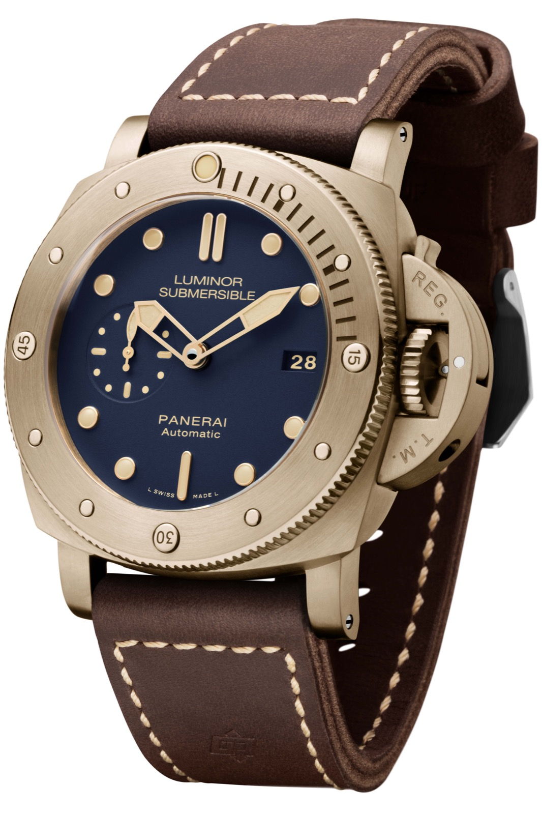 PANERAI LUMINOR SUBMERSIBLE 1950 3 DAYS AUTOMATIC BRONZO (PAM671) - 47mm