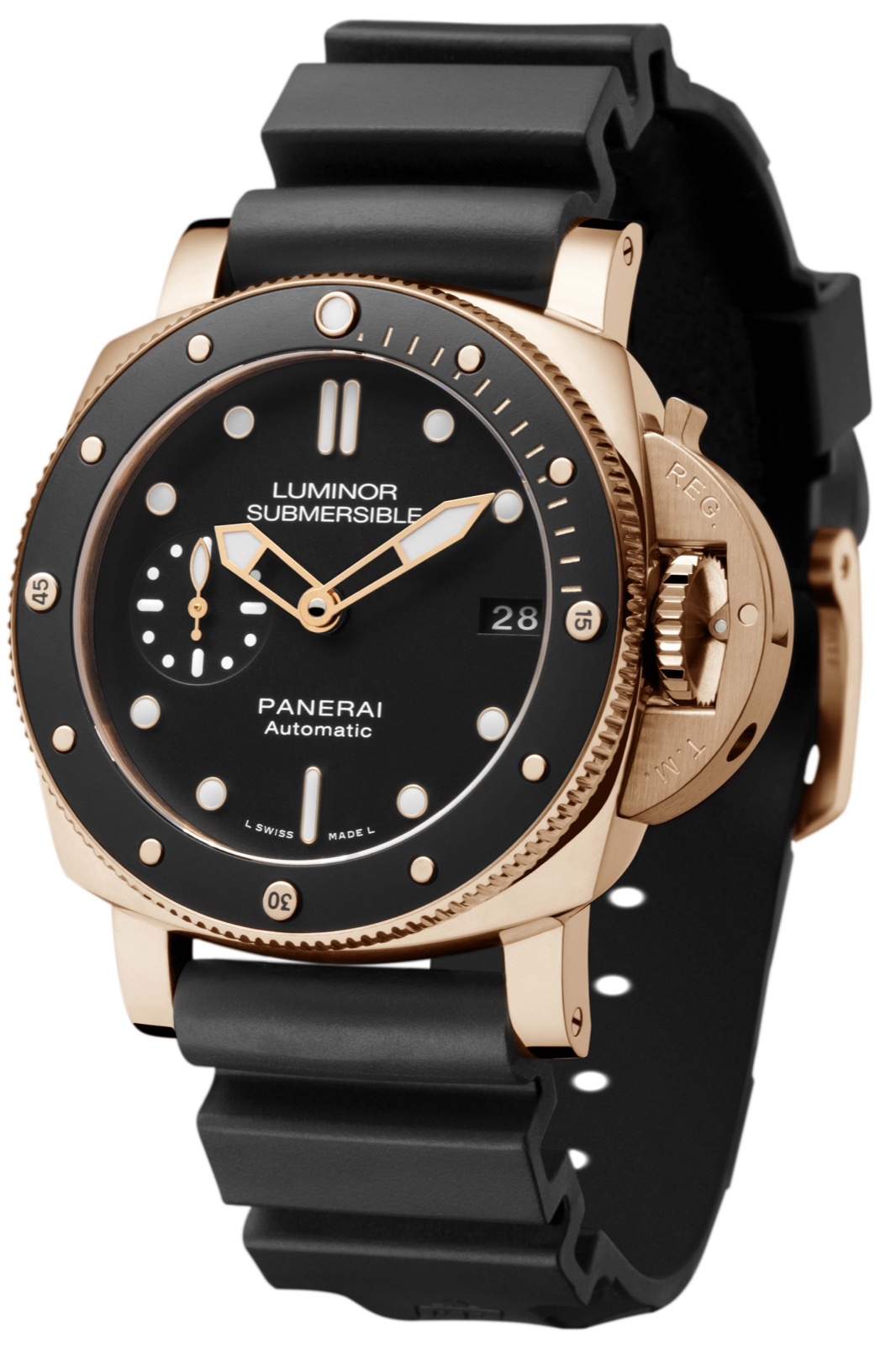PANERAI LUMINOR SUBMERSIBLE 1950 3 DAYS AUTOMATIC ORO ROSSO (PAM684) - 42mm