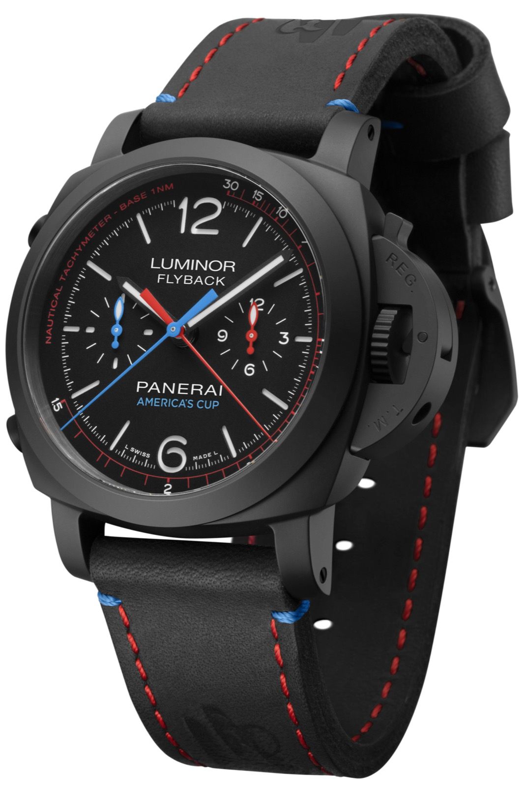 PANERAI LUMINOR 1950 ORACLE TEAM USA 3 DAYS CHRONO FLYBACK CERAMICA (PAM725) – 44mm