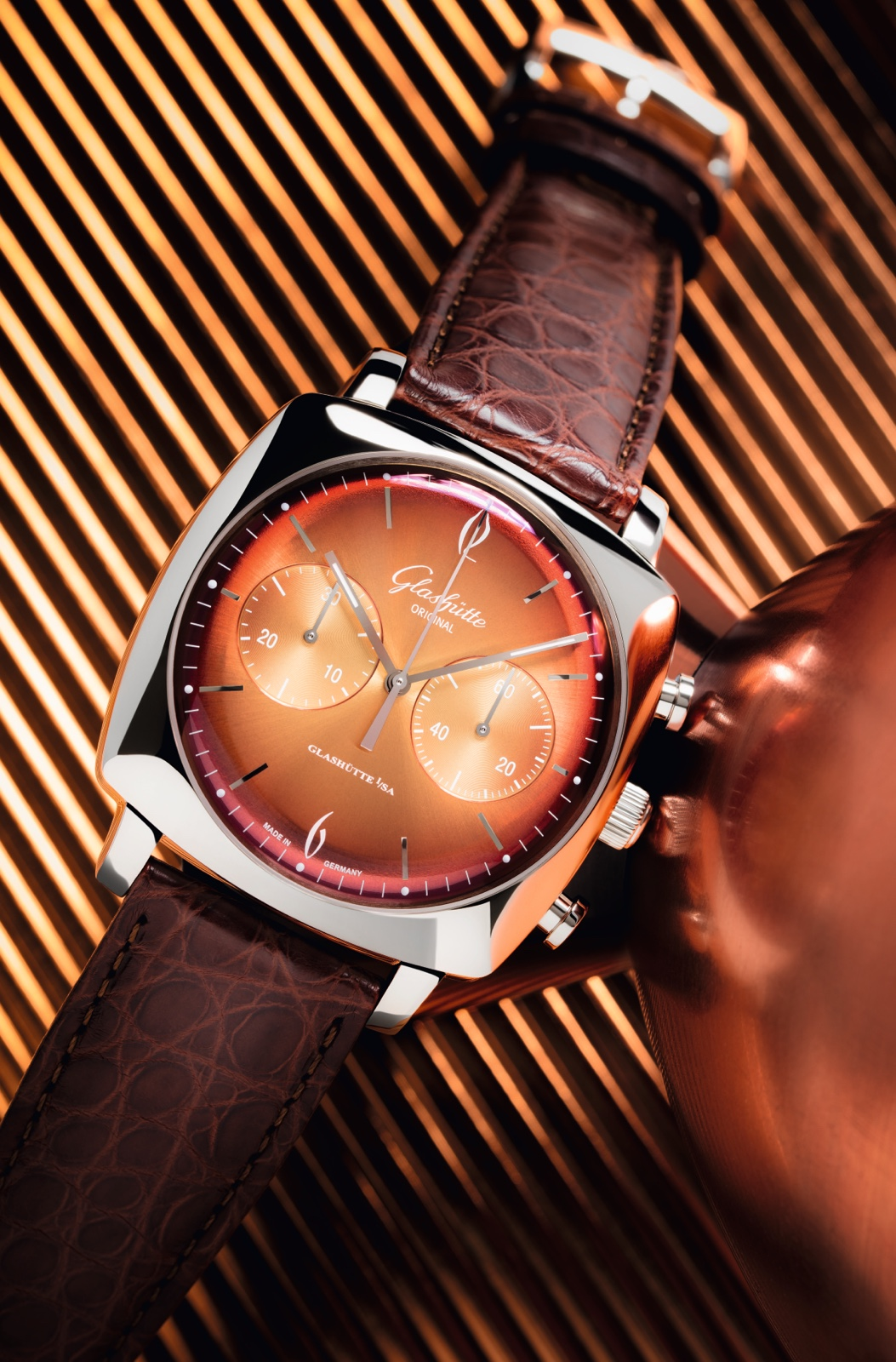 Glashutte Original Sixties Iconic Square Collection Tangerine