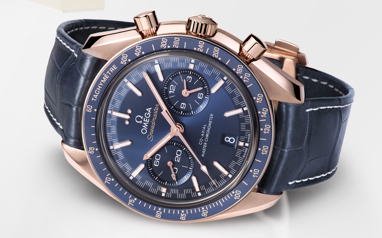 Omega Speedmaster Racing Master Chronometer Sedna Gold